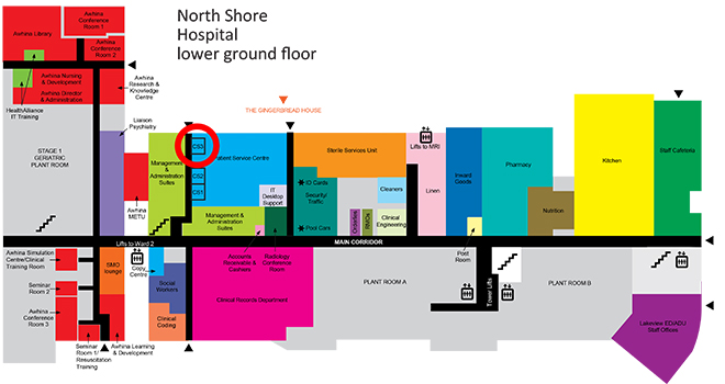 Floor map for Conference Room 3